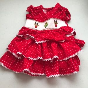 5/$25 MUDPIE BABY Christmas Dress Tiers and Frills